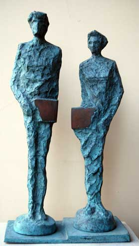 Sarkis Toosonian 6.man & woman 2017 bronze  45x24x5cm
